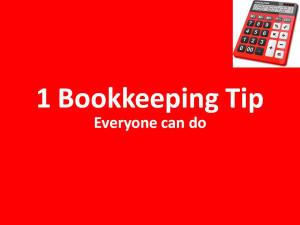 Good Bookkeeping Habits